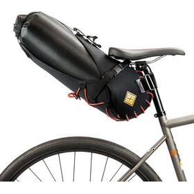 Restrap Big Saddlebag - Bolsa bicicleta - with Dry Bag 14L naranja/negro